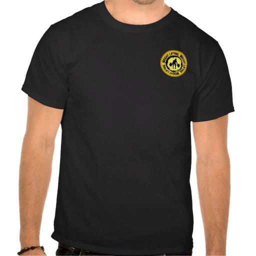 Sello agradable del levantamiento de pesas camisetas