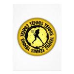 Sello agradable del tenis (femenino) comunicados personalizados