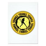 Sello agradable del tenis (femenino) invitación 12,7 x 17,8 cm