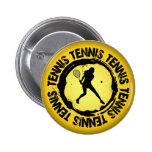 Sello agradable del tenis (femenino) pins