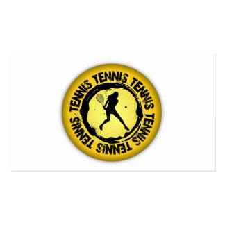 Sello agradable del tenis (femenino) tarjetas de visita