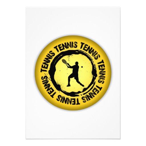 Sello agradable del tenis (varón) anuncio