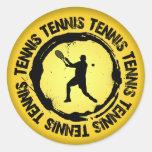 Sello agradable del tenis (varón) etiqueta