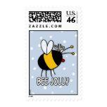 sello alegre de la abeja