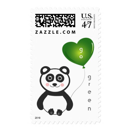 Sello alegre de la panda