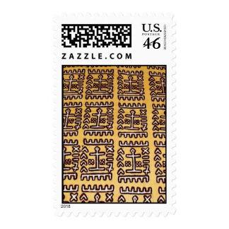 sello amarillo de la impresión del fango