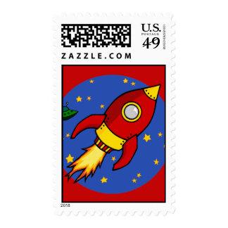 Sello amarillo rojo de Rocket