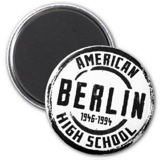 Sello americano A004 de la High School secundaria  Imán Redondo 5 Cm