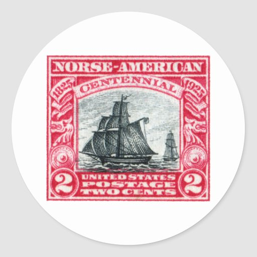 Sello americano de los 1925 nórdises pegatinas redondas