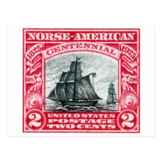 Sello americano de los 1925 nórdises postales