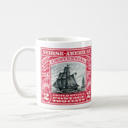 Sello americano de los 1925 nórdises taza de café