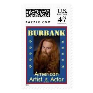 Sello americano del actor del artista de Burbank