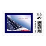 Sello americano patriótico de la bandera de los E.