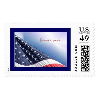 Sello americano patriótico de la bandera de los