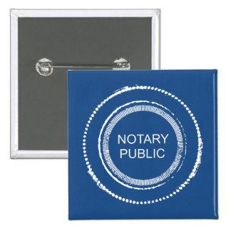 Sello apenado del notario público pin cuadrado