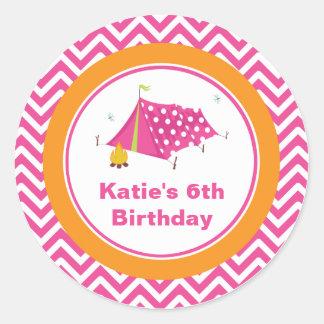 Sello atractivo del sobre del cumpleaños de los pegatina redonda