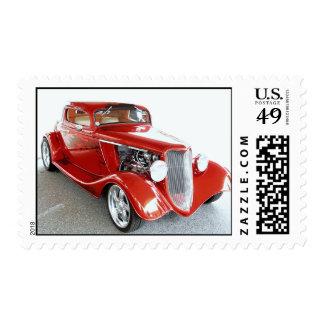 Sello auto del colector rojo del vintage