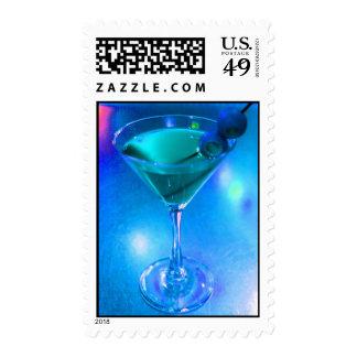 Sello azul chillón de Martini los E.E.U.U.