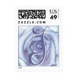 Sello azul claro del rosa de LetterJ del monograma