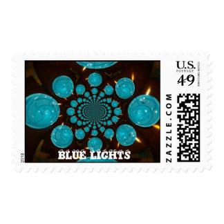 Sello azul de las luces