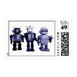 sello azul de los robots