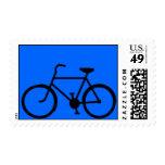 Sello azul de Sihouette de la bicicleta