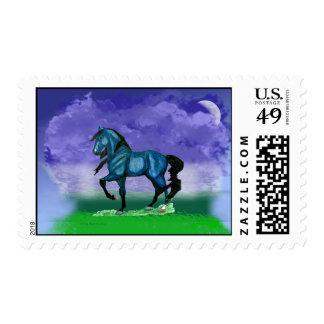 Sello azul del caballo de Paso Fino