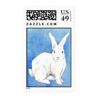 Sello azul del conejo