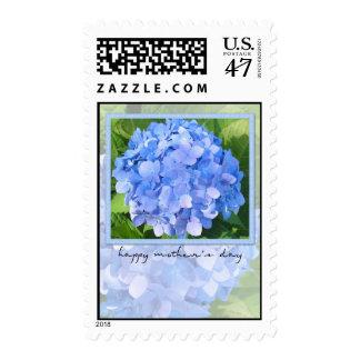 sello azul del hydrangea del día de madre
