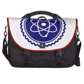 Sello azul esencial del modelo atómico bolsas para portatil
