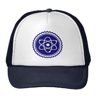 Sello azul esencial del modelo atómico gorra