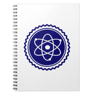 Sello azul esencial del modelo atómico libro de apuntes