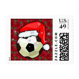 Sello - balón de fútbol de Santa