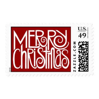 Sello blanco de las Felices Navidad