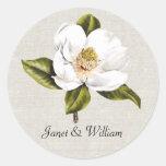 Sello blanco elegante del sobre del boda de la pegatinas redondas