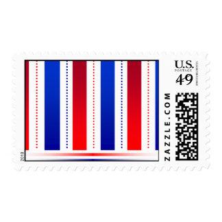 sello blanco y azul rojo