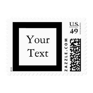 Sello blanco y negro con el texto de encargo