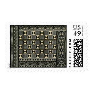 sello blanco y negro de la impresión del kente