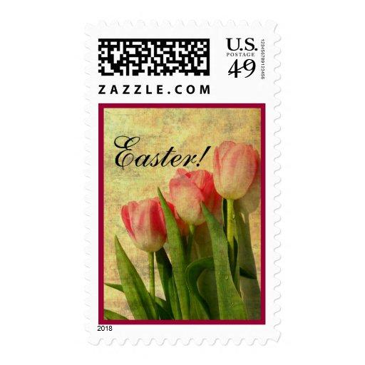 Sello bonito de los tulipanes de Pascua