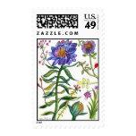 Sello botánico de la flor de 55 azules