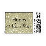 Sello brillante de la Feliz Año Nuevo del oro