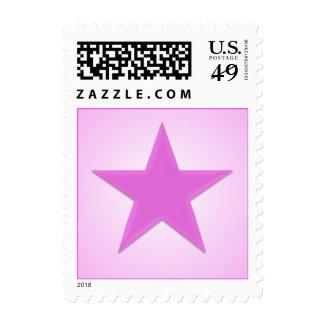 Sello brillante rosado de la estrella