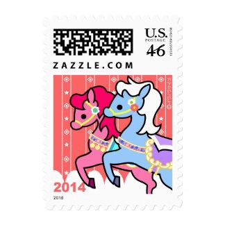 Sello - caballo del Año Nuevo