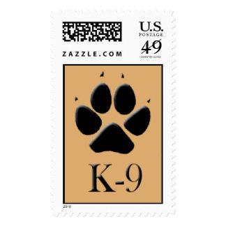 Sello canino de Pawprint de la pista K-9