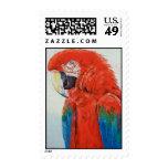 Sello carmesí del Macaw