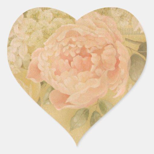 Sello color de rosa rosado perfecto del sobre de colcomanias corazon