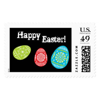 Sello colorido de los huevos de Pascua
