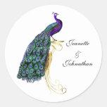 Sello colorido elegante del sobre del boda del etiquetas redondas