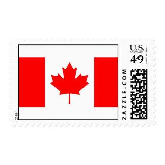 Sello con la bandera de Canadá