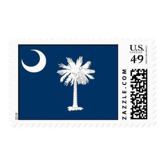 Sello con la bandera de Carolina del Sur, los E.E.
